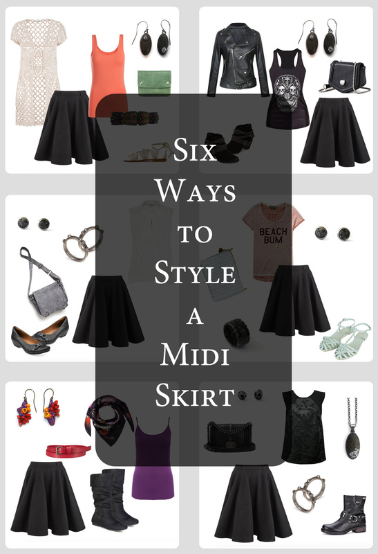 Six Ways to Style a Midi Skirt + Casey Sharpe Jewelry