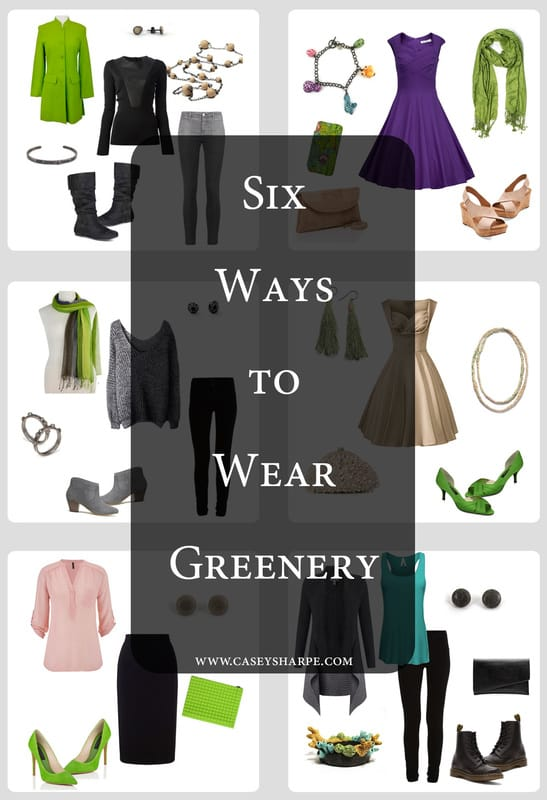 Six Ways to Wear Pantone's Color of the Year: Greenery.  Featuring Jewelry by Casey Sharpe