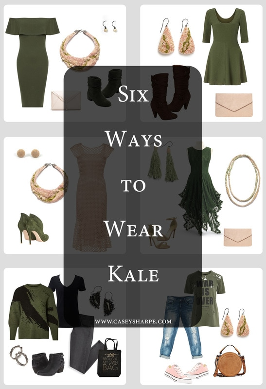 Six Ways to Wear Pantone's Kale + Casey Sharpe Jewelry